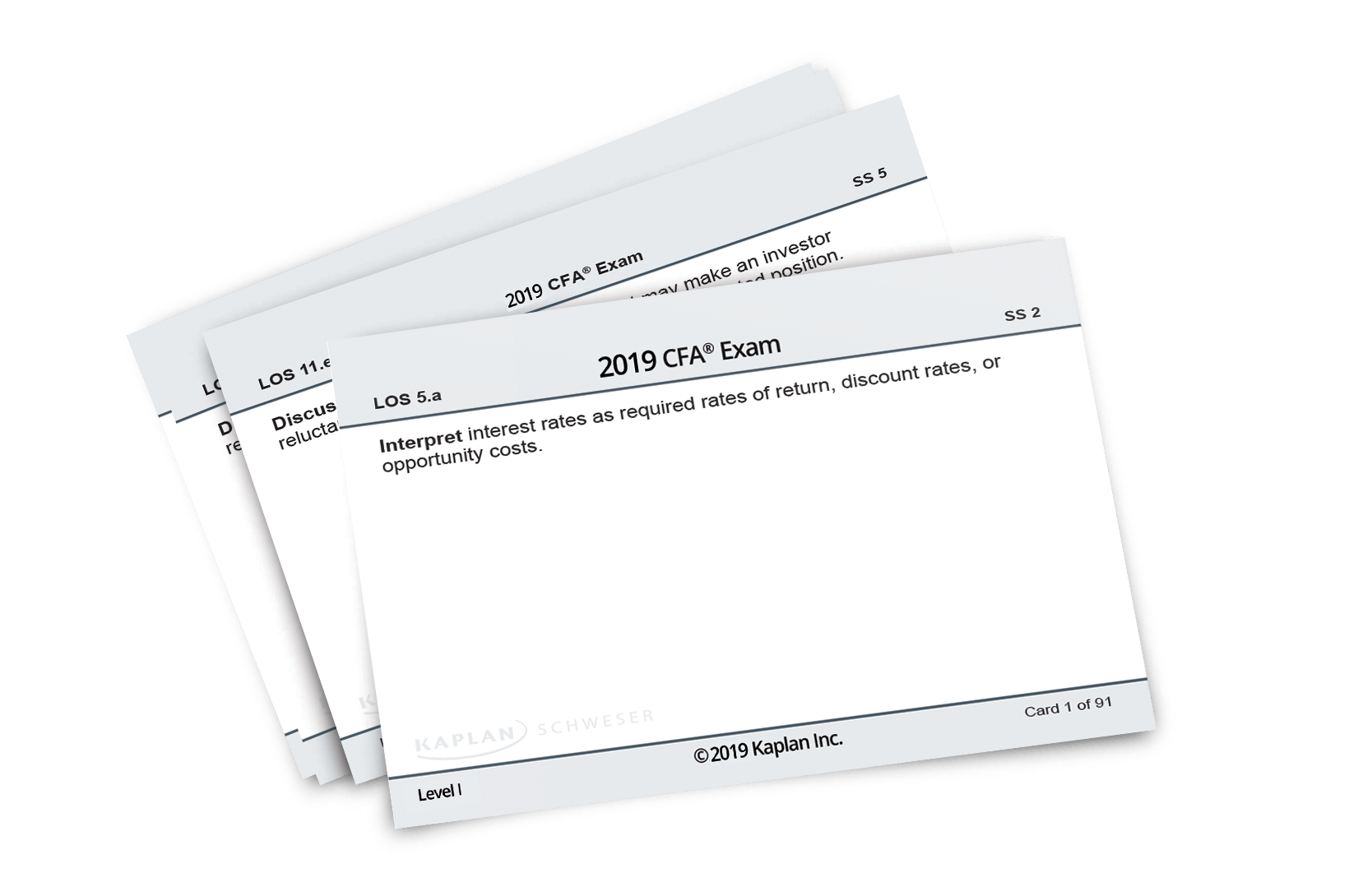 Schweser CFA Flashcard Set
